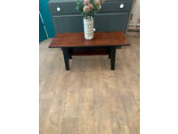 Small rectangular teak coffee/side table in mid century style