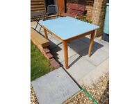 Blue formica kitchen table lovely 1960-70's