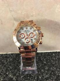 Rolex Oyster Perpetual Daytona FULL ROSE GOLD/WHITE DIAL FREE TRACKED SHIPPING!