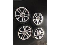 GENUINE SET OF FOUR AUDI S3 ALLOYS AND TYRES*BARGAIN*