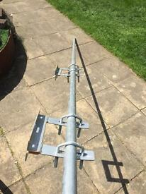 9' Pole and 2 Stand-Off Brackets Suitable for Sky Dish or TV Aerial