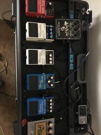 BOSS BCD-60 Pedal Board COMPLETE with Pedals- BRAND NEW