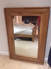 Very large rustic oak mirror (huge) - distressed oak (160cm length)
