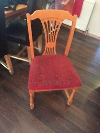 Dining chairs (very sturdy) 8 of them, with burgundy seating