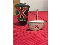 "Scotty Cameron Titleist Red X 2 Mallet 3 Dot Lawsuit Limited Release R/H Centre Shaft 34"" Putter"