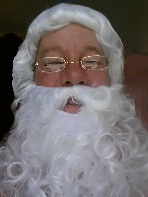 Adult Santa or Character WIG AND BEARD Economical Set Costume Accessory Beard Sets Character Wigs