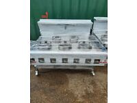 Chinese wok cooker 5 burners Nat gas wok cooker commercial indian wok in London