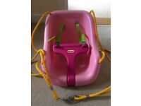 Little tikes pink swing seat with safety harness