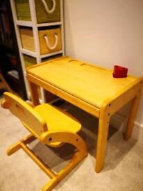 Rakuten realwood study desk & chair for kids.