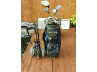 Full set golf clubs with trolley