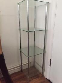 4 tier glass unit