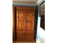 Two door with 4 draw wardrobe Height