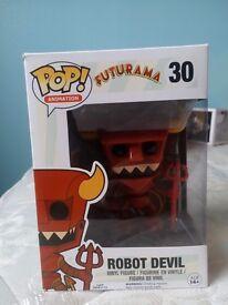 Pop Vinyl Figure- Futurama Robot Devil (like new)