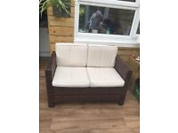 LIKE NEW - Garden Set - Settee, 2 Chairs & Table