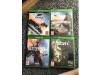 Xbox one games for sale battlefield ghost recon forza fallout