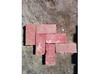Reclaimed Victorian Hand Made Red Clay Pavers / Paviors / Paviours / Bricks