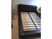 Habitat Leather Double Bed
