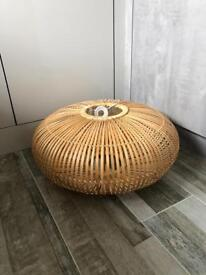 M&S Home Wooden Bamboo Effect Ceiling Light Shade