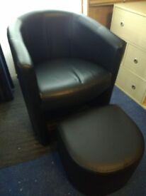 TUB Chair + Stowaway Stool - Black