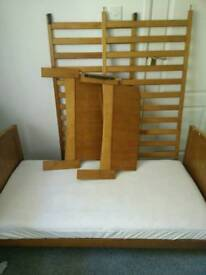Wooden baby cot and cot bed