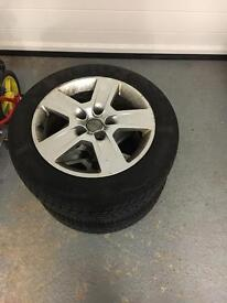 VW / Audi Alloys with Winter Tyres