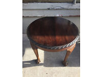 Table with claw feet, sizes Diameter 23 in Height 18 in free local delivery