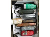 Old fire extinguishers