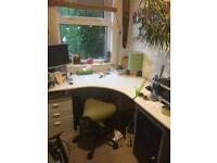 White office desk large