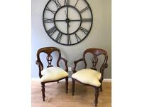 Pair of reproduction carver chairs