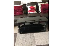 Reduced price Glass TV stand excellent condition - nearly new - from pet free and smoke free home