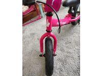 Balance bike pink girl bicycle