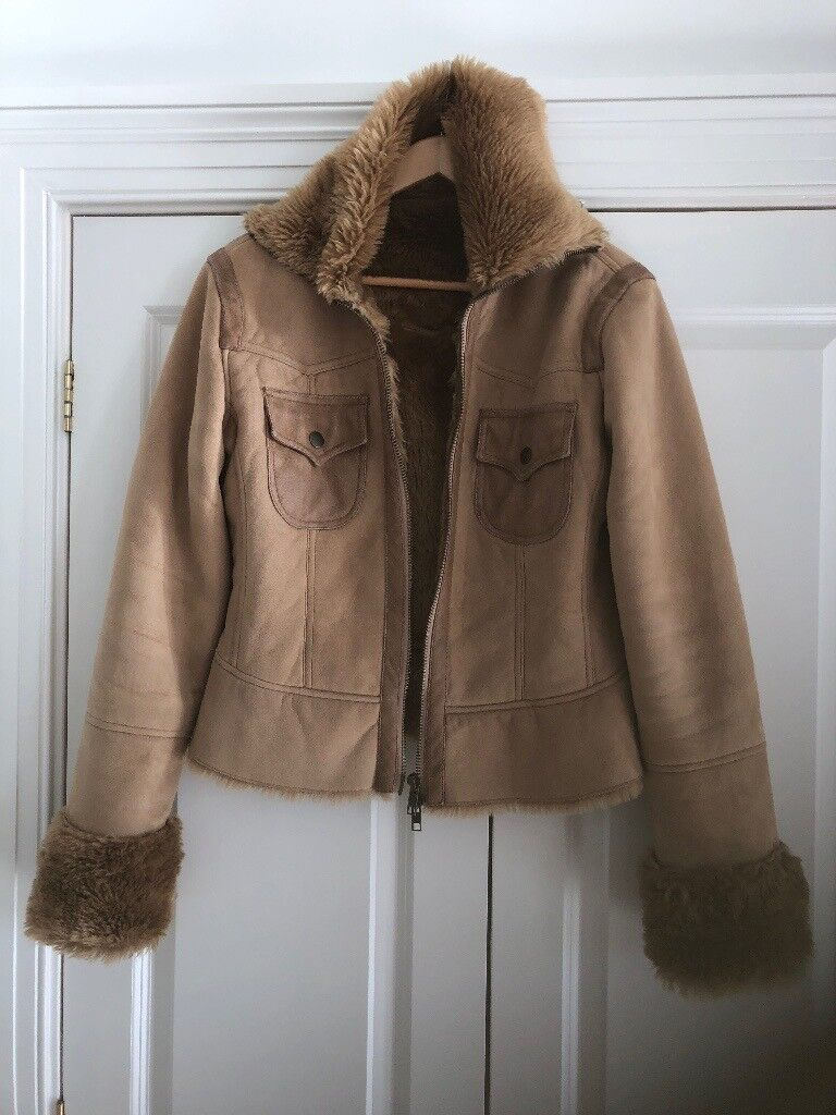 FREE PEOPLE suede/vintage look jacket size 10/12
