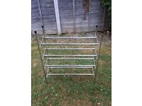 Chrome Tubular Extendable Shoe Rack In Excellent Condition