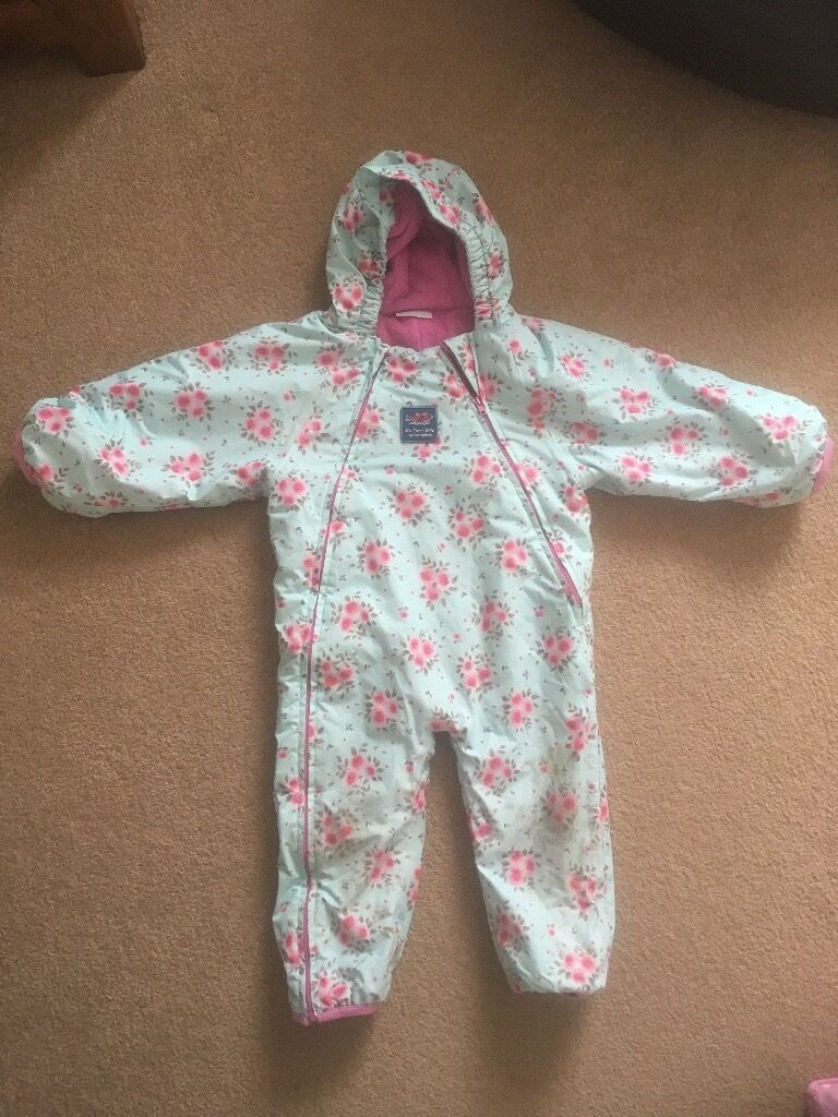 c71319d44 Jojo Maman Bebe waterproof fleece lined all in one 18-24 months