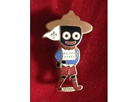 An Original Robertsons Golly Scout Badge/Brooch with DARK BROWN HAT - MILLER c1950s RARE!