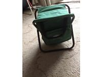fishing stool with bag underneath new