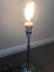 Silver retro bulb lamp