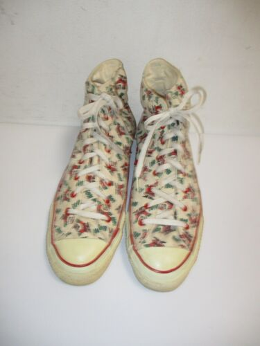 Vintage CONVERSE All Star High SANTA CLAUS Sneakers USA MADE Size 12