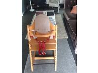 Stokke solid wood maple high chair