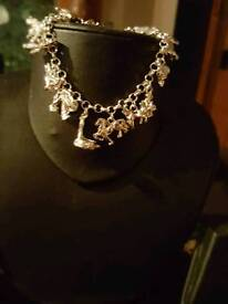 Charm bracelet silver 925