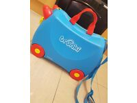 Kids TRUNKI suitcase blue (Ryan Air hand luggage approved)
