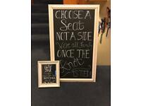 Chalk board signs
