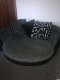 Dfs corner sofa and cuddler