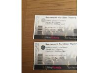Sarah millican tickets x2 bournemouth Thursday 17th may