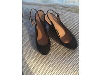 Brand new size 7 suede wedges