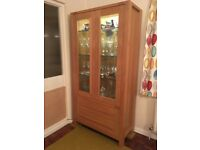 Marks & Spencer Sonoma Oak Tall Glazed Unit in excellent used condition