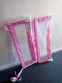 2x Pink Bed Guards