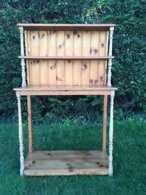 Attractive small pine dresser/shelf unit