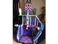 Monster high house & monster dolls also barbie bundle