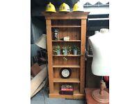 Ornate pine bookcase - adjustable shelves - Carlisle, can deliver